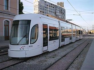 Alicante Tram - Flexity Outlook type tram at the station Alicante - La Marina