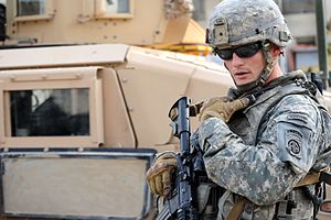 Iraq War order of battle, 2009 - A U.S. Army officer from the 82nd Airborne Division in March 2009.