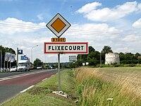 Flixecourt panneau entrée et moulin 1.jpg
