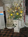 Floral display within St Bartholomew, Rogate - geograph.org.uk - 1537010.jpg
