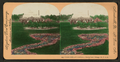 Flower beds and Greenhouse, Lincoln Park, Chicago, Ill. U.S.A, by Keystone View Company.png