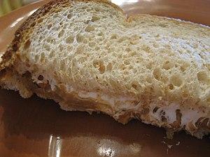 Fluffernutter - Half of a fluffernutter sandwich.