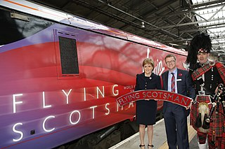 <i>Flying Scotsman</i> (train) London Kings Cross to Edinburgh Waverley passenger train