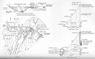 Fontana Dam - Design plan for Fontana Dam, circa 1941