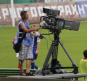 Russian Premier League - NTV Plus cameraman