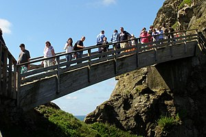 Tintagel Castle - Footbridge giving access to the Island