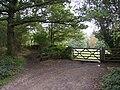Footpath and field gate off Upper Hagg Road, Honley - geograph.org.uk - 259505.jpg