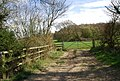 Footpath joins the track heading for Bore Place - geograph.org.uk - 1256660.jpg