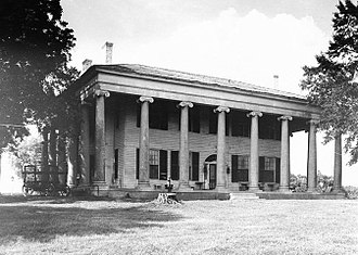 William Nichols (architect) - The Forks of Cypress began as a Federal-style house in 1820.  The peripteral Ionic portico was designed by Nichols in 1830.  The house was destroyed by fire in 1966. Ruined columns remain at the site.