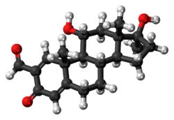 Ball-and-stick model of the formebolone molecule