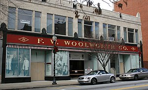 Downtown Greensboro Historic District - Former Woolworth store, November 2008