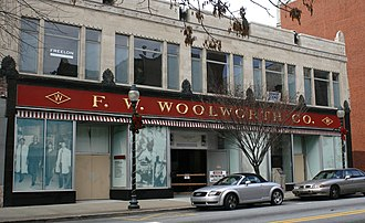 Greensboro sit-ins - The protests took place at this Woolworth five-and-dime store.