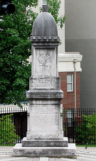 79th New York Volunteer Infantry - Monument to the 79th at the Battle of Fort Sanders site in Knoxville