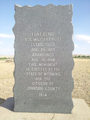 Fort Reno (Wyoming) - Image: Fort Reno Monument