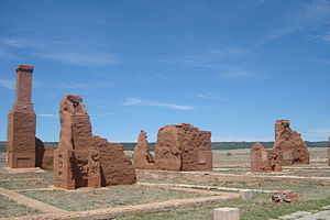 Fort Union National Monument - Image: Fort Union National Monument adobe
