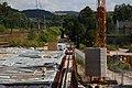 Foto-Denkmal (Reihe, wird fortgsetzt) Verlegung B173 in Flöha, Brückenbauwerk 4, schon betoniert - panoramio.jpg
