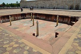 Fountain Facing Assembly Hall - Taj Mahal Complex - Agra 2014-05-14 3810.JPG