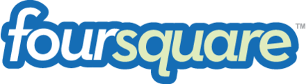The mobile app, Foursquare, was launched at SXSW 2009. Foursquare-logo.png