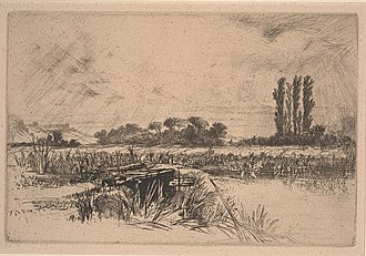 Francis Seymour Haden - A Water Meadow, Dallas Museum of Art