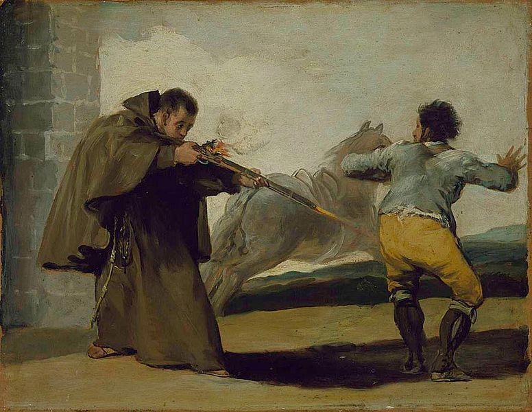 File:Francisco de Goya - Friar Pedro Shoots El Maragato as His Horse Runs Off.jpg