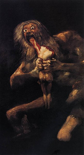 File:Francisco de Goya y Lucientes - Saturn Devouring One of his Children - WGA10109.jpg