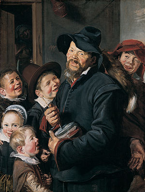 The Rommelpot Player - The Rommelpot Player, circa 1618-1620, Oil on canvas, 106 x 80.3 cm