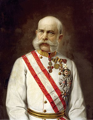 Military Order of Maria Theresa - Franz Josef I wearing the star and riband of Knight Grand Cross