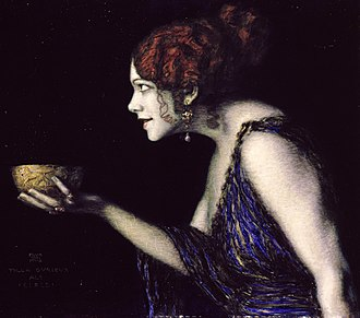 Circe in the arts - Franz von Stuck, The actress Tilla Durieux in the role of Circe, c.1913
