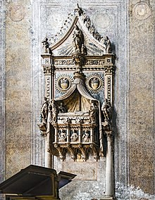 Frari (Venice) - Tomb of doge Francesco Foscari.jpg
