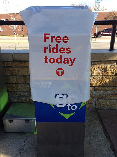 File:Free Rides Today sign on Election Day for Metro Transit.jpg