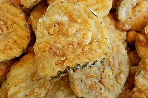 Fried pickle - A serving of fried pickles