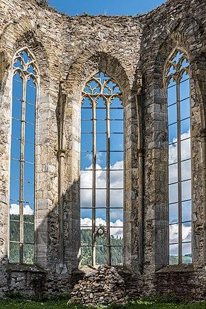 Church ruin Virigilienberg from the 13th/14th century, medieval city of Friesach, district Sankt Veit, Carinthia, Austria, EU
