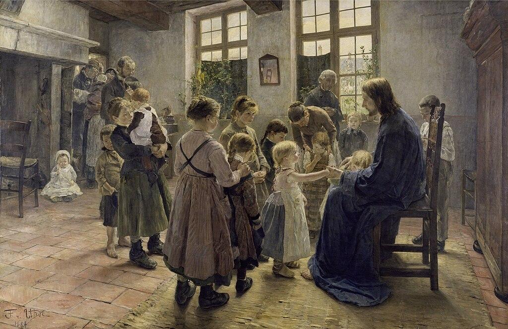 Fritz von Uhde - Lasset die Kinderlein zu mir kommen, 1884