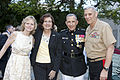 From left, Sally Flynn; Debbie Paxton; U.S. Marine Lt. Gen. George J. Flynn; and the Assistant Commandant of the Marine Corps, Gen. John M. Paxton, Jr., pose for a photo after Lt. Gen. Flynn's retirement 130509-M-KS211-277.jpg