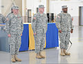 From left, U.S. Army Col. Michael Berry; Brig. Gen. Scott E. Chambers, the assistant adjutant general of the Delaware Army National Guard; and Lt. Col. David Fleming III stand in formation during a change 131207-Z-GL773-690.jpg