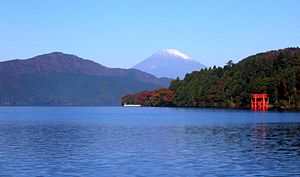 Fuji-Hakone-Izu National Park - Mount Fuji and Ashi-no-ko Lake from Motohakone