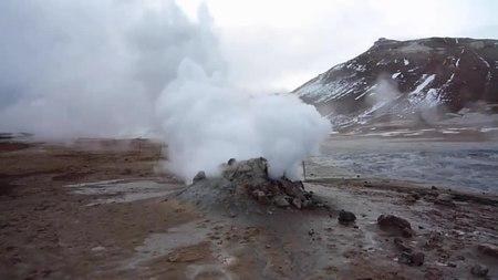 File:Fumarole at Hverir, Iceland.webm