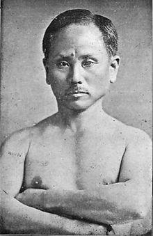 Le karaté est un art martial dit japonais 220px-Funakoshi_Gichin