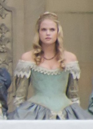 Gabriella Wilde - Wilde in 2010, filming a scene for The Three Musketeers