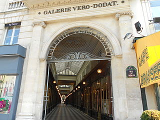 covered passage in Paris, France