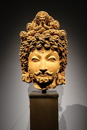 Asian Civilisations Museum - Head of a Bodhisattva, Gandhara, ca. 4th century