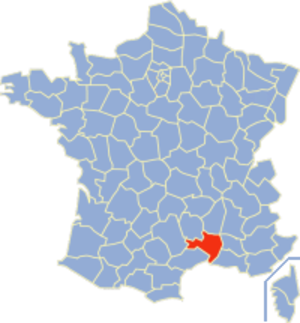 Communes of the Gard department - Image: Gard Position