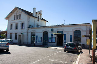 railway station in Veneux-les-Sablons, France
