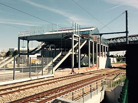 Gare de Villetaneuse-Université,en construction, en septembre 2015.