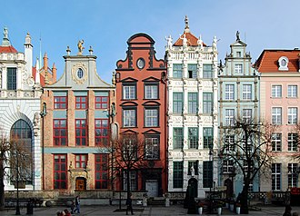 Townhouse - Renaissance townhouses in Gdańsk, Poland