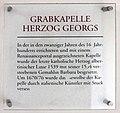 Gedenktafel Domplatz (Meißen) Grabkapelle Herzog Georgs.jpg