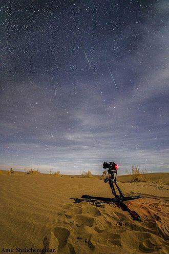 Geminids - Image: Geminid meteor shower