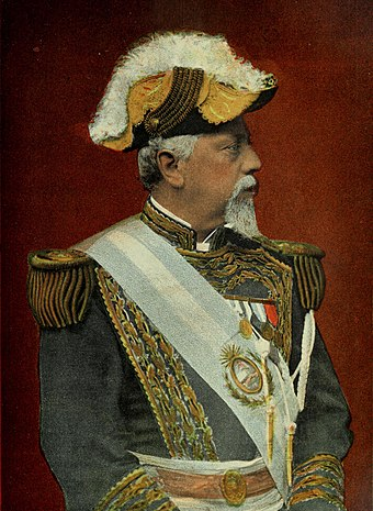 "Julio Argentino Roca was a major figure of the Generation of '80 and is known for directing the ""Conquest of the Desert"". During his two terms as President many changes occurred, particularly major infrastructure projects of railroads; large-scale immigration from Europe and laicizing legislation strengthening state power. General Don Julio Argentino Roca.jpg"
