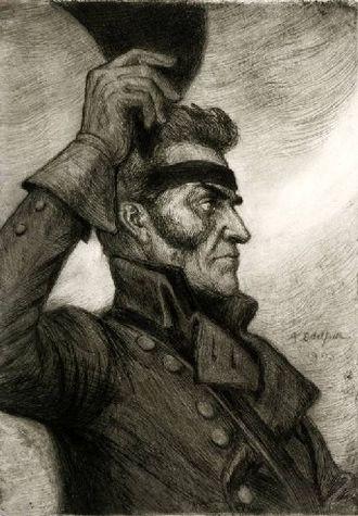 Georg Carl von Döbeln - Döbeln at Jutas by Albert Edelfelt.