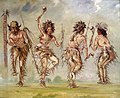 George Catlin - Four Dancers - 1985.66.386,439 - Smithsonian American Art Museum.jpg